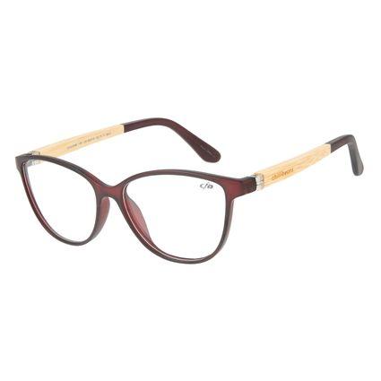 Armação para Óculos de Grau Feminino Chilli Beans Gatinho Vinho LV.IJ.0169-1761