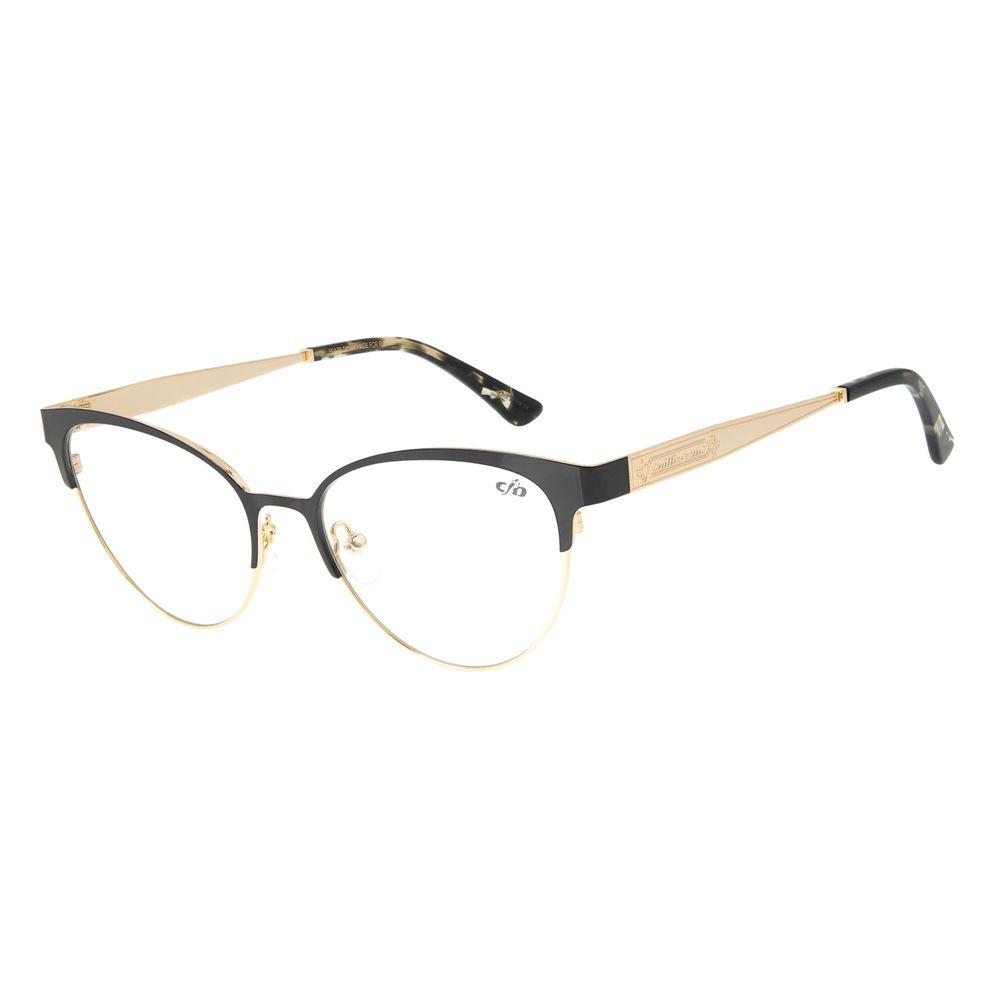 Armação para Óculos de Grau Feminino Chilli Beans Gatinho Dourado LV.MT.0452-0121