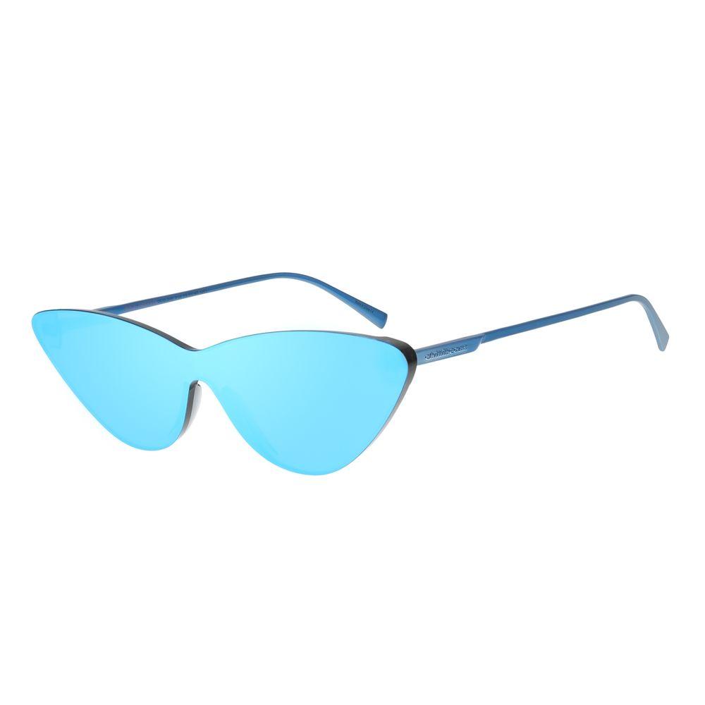 Óculos de Sol Feminino Chilli Beans Summer Block Gatinho Azul Espelhado OC.CL.2668-9108