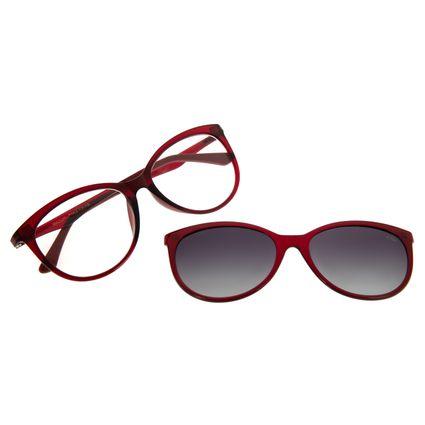 Armação Para Óculos De Grau Feminino Chilli Beans Multi Degradê Vinho Polarizado LV.MU.0079-2017