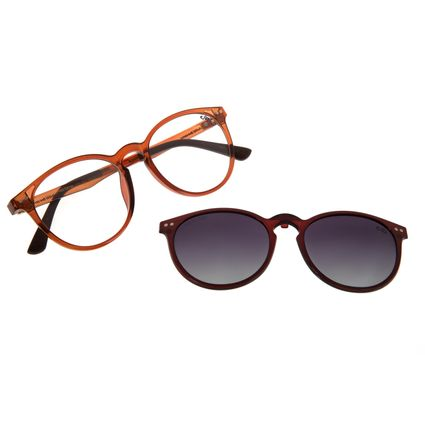 Armação Para Óculos de Grau Masculino Chilli Beans Multi Redondo Degradê Rosé LV.MU.0452-2095