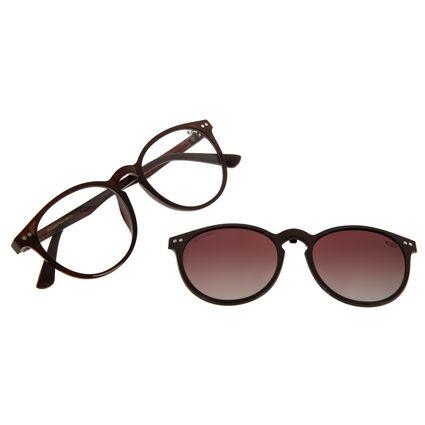 Armação Para Óculos de Grau Masculino Chilli Beans Multi Marrom LV.MU.0452-5702