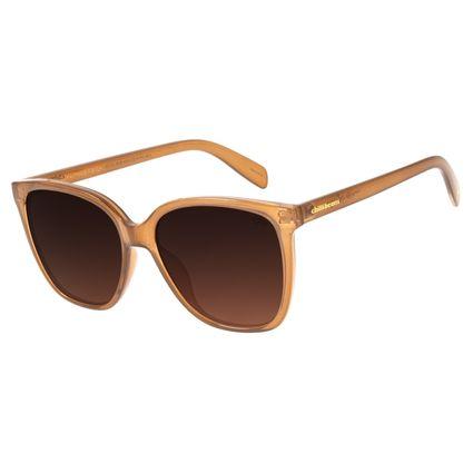 Óculos de Sol Feminino Mãe Natureza Quadrado Flor de Lótus Caramelo OC.CL.3035-5703