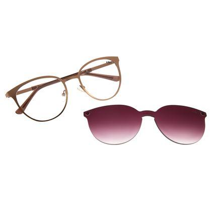 Armação Para Óculos de Grau Feminino Chilli Beans Multi Redondo Metal Bege LV.MU.0429-1423
