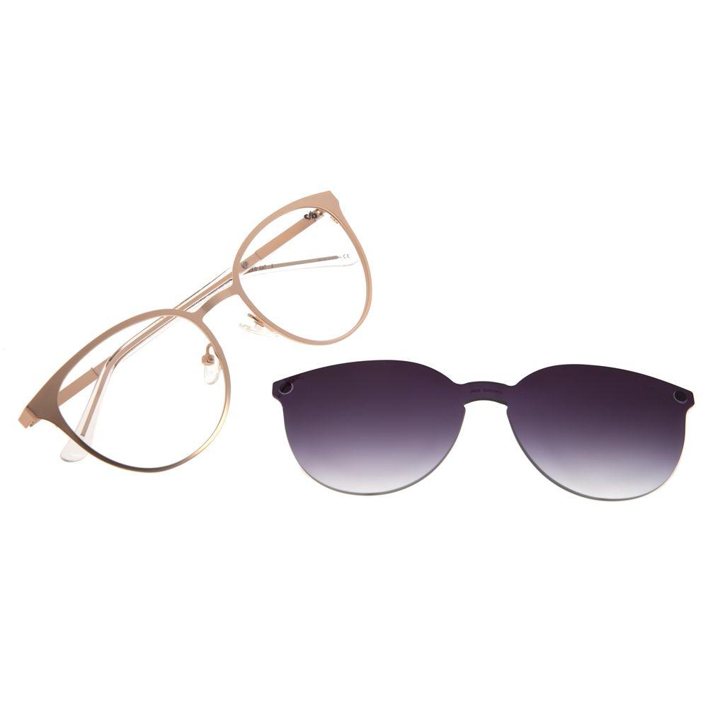 Armação Para Óculos de Grau Feminino Chilli Beans Multi Redondo Metal Degradê Rose LV.MU.0429-2095