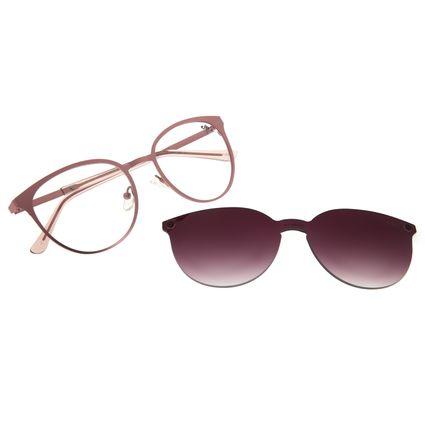 Armação Para Óculos de Grau Feminino Chilli Beans Multi Redondo Metal Degradê Marrom LV.MU.0429-5795