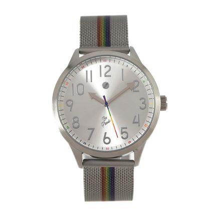 Relógio Analógico Unissex True Colors Prata RE.MT.0996-0707