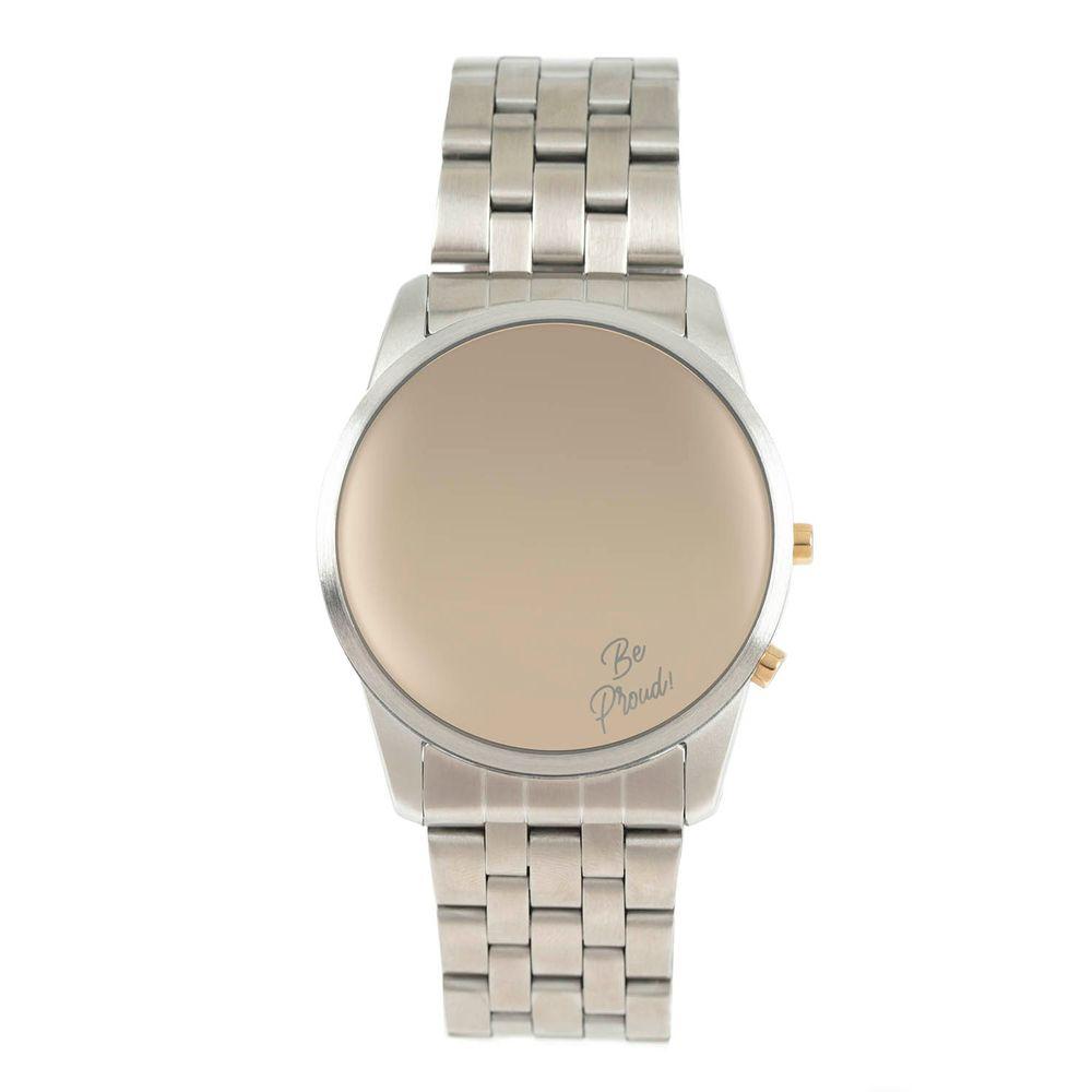 Relógio Digital Unissex True Colors Redondo Prata RE.MT.1078-0707