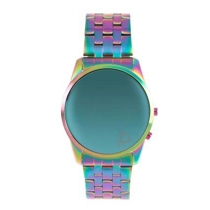 Relógio Digital Unissex True Colors Redondo Iridescente RE.MT.1078-4040