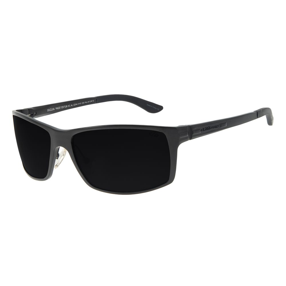Óculos de Sol Masculino Chilli Beans Performance Polarizado Preto OC.AL.0244-0101