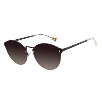 Óculos de Sol Unissex Chilli Beans True Colors Redondo Preto OC.MT.2892-2001
