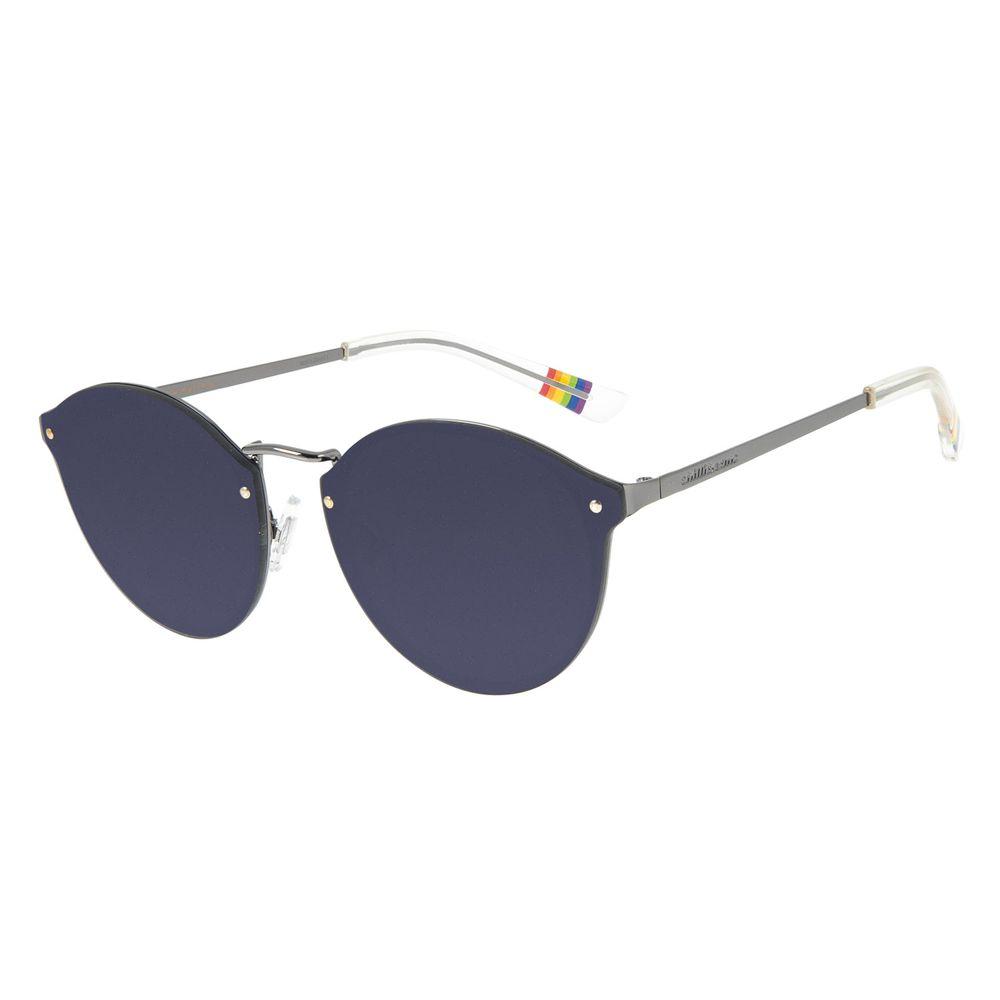 Óculos de Sol Unissex Chilli Beans True Colors Redondo Ônix OC.MT.2892-2922