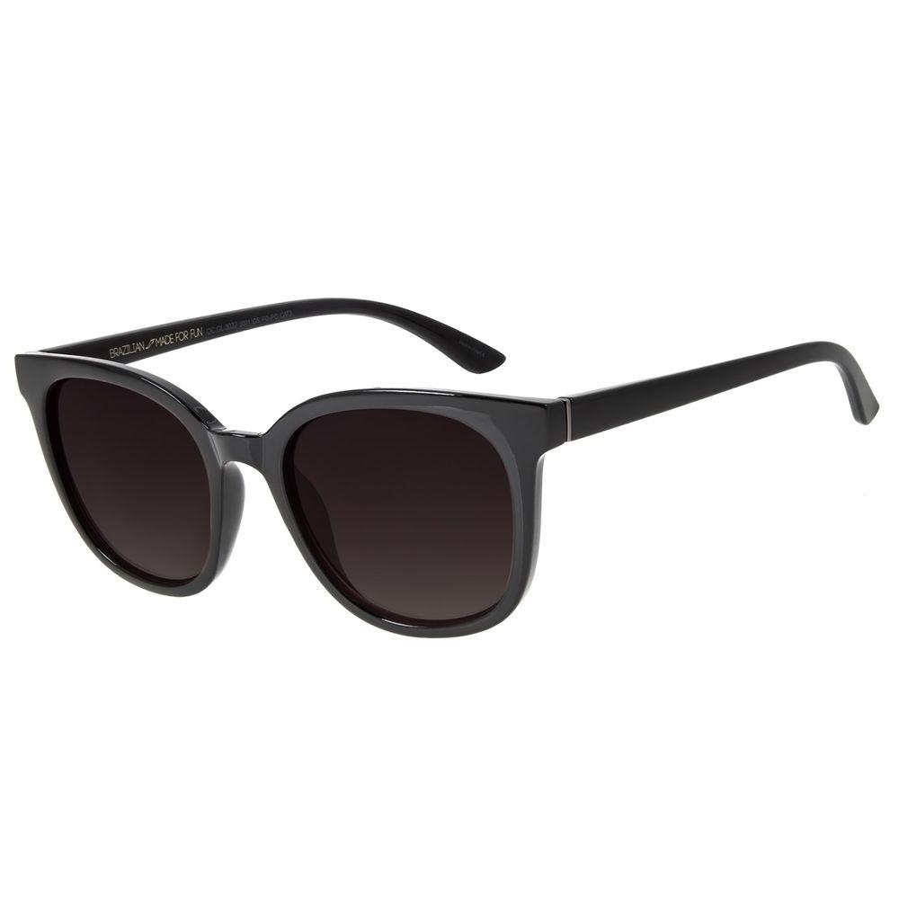 Óculos de Sol Feminino Chilli Beans Quadrado Casual Preto OC.CL.3032-2001