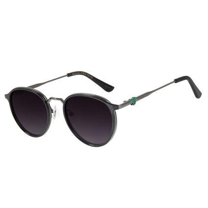 Óculos de Sol Unissex Mãe Natureza Redondo Preto OC.CL.3033-2001