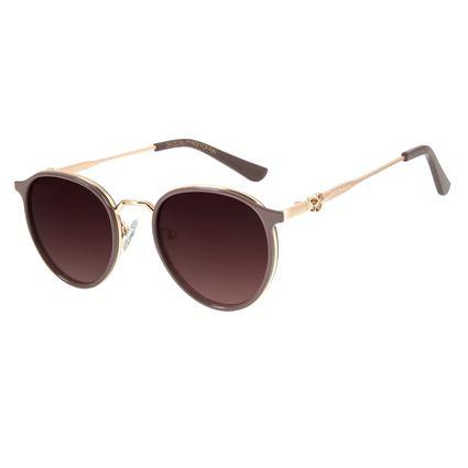 Óculos de Sol Unissex Mãe Natureza Redondo Rosa OC.CL.3033-5713