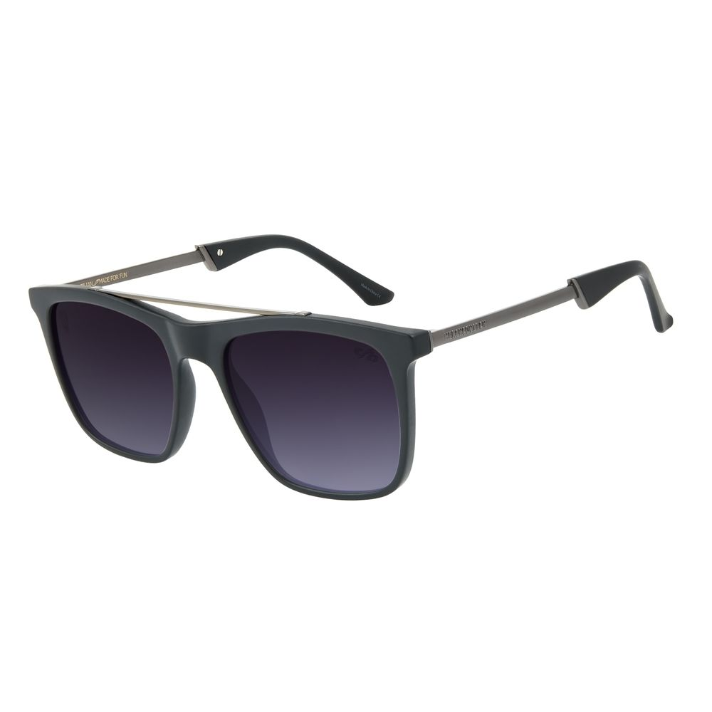Óculos de Sol Masculino Alexandre Herchcovitch Bossa Nova Degradê Preto OC.CL.3042-2001