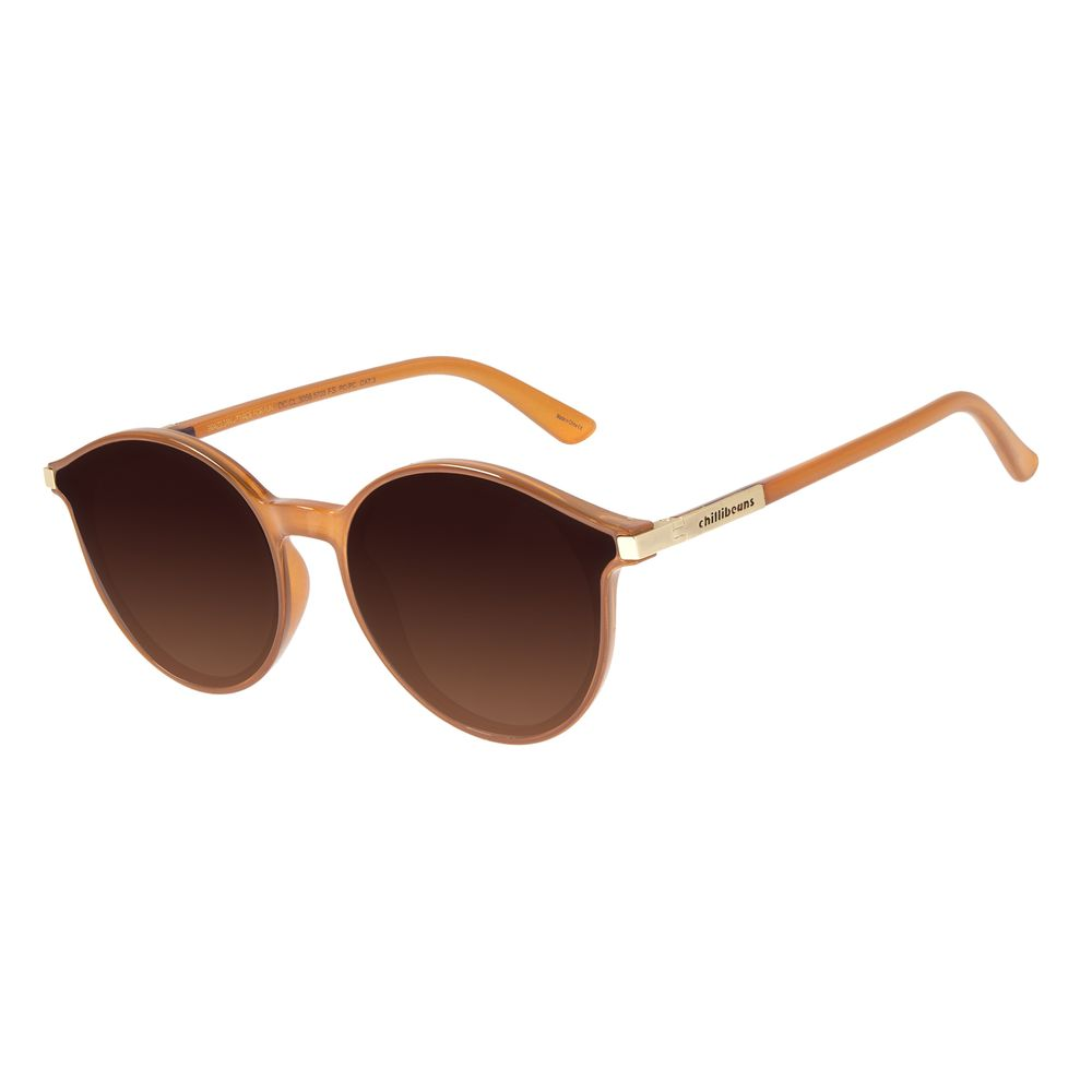 Óculos de Sol Unissex Chilli Beans True Colors Redondo Caramelo OC.CL.3056-5703