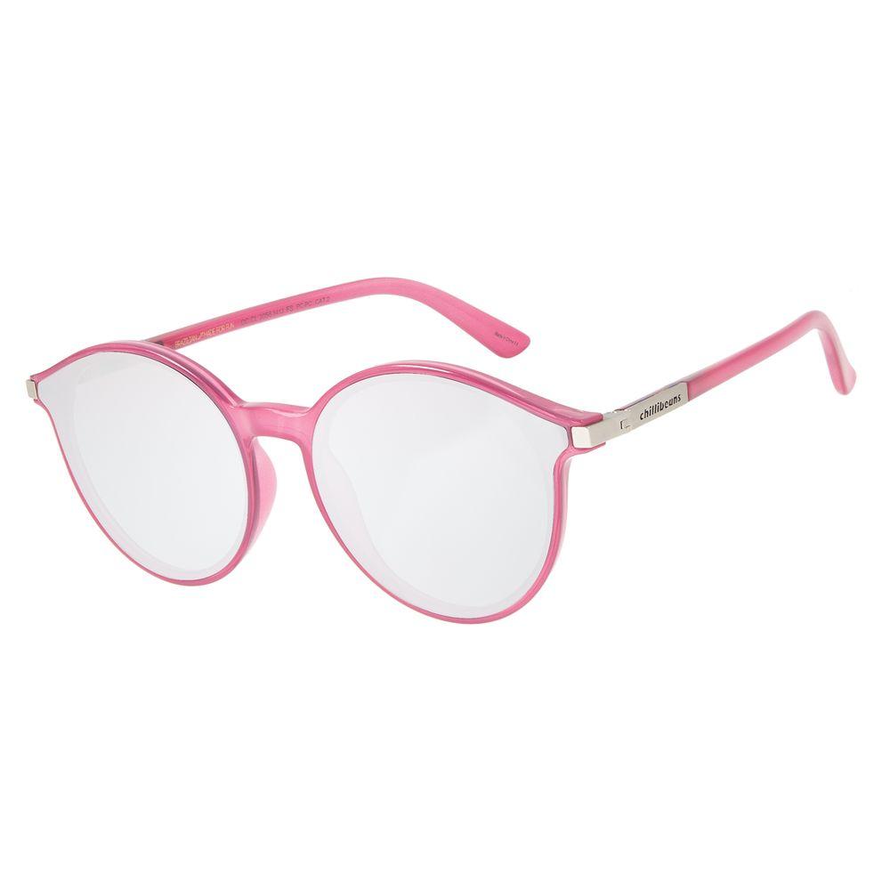 Óculos de Sol Unissex Chilli Beans True Colors Redondo Rosa OC.CL.3056-5413