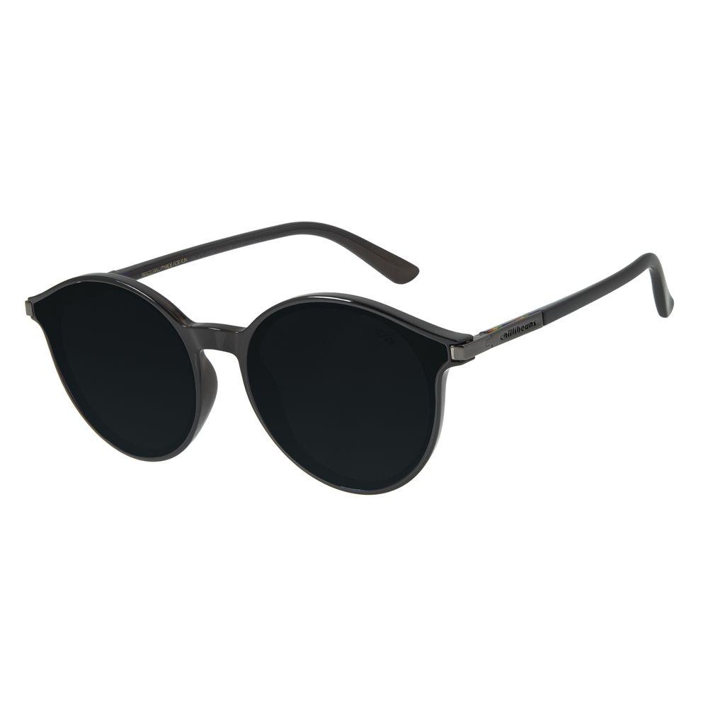 Óculos de Sol Unissex Chilli Beans True Colors Redondo Preto OC.CL.3056-0101