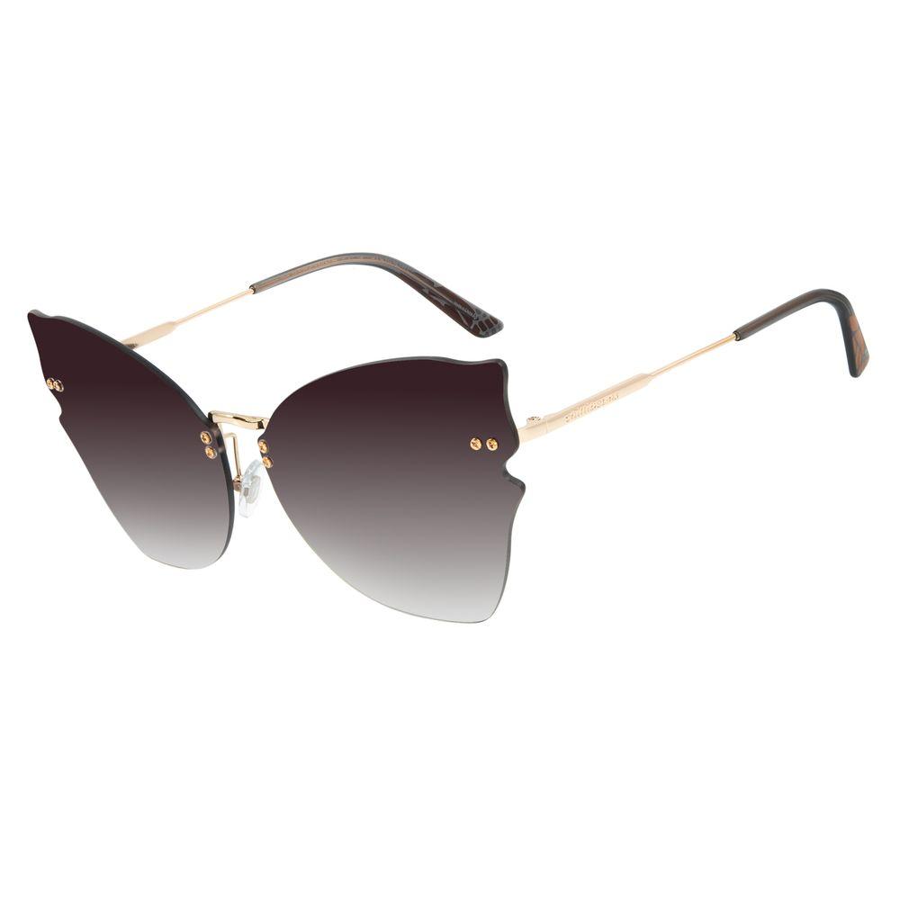 Óculos de Sol Feminino Mãe Natureza Gatinho Dourado OC.MT.2881-2021