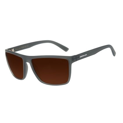 Óculos de Sol Masculino Chilli Beans Esportivo Marrom Escuro Polarizado OC.ES.1227-4701