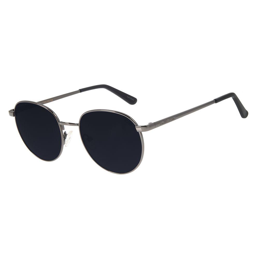 Óculos de Sol Unissex Chilli Beans Redondo Metal Ônix OC.MT.2825-0122