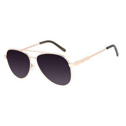 Óculos de Sol Unissex Chilli Beans Aviador Metal Degradê Rosé OC.MT.2846-2095