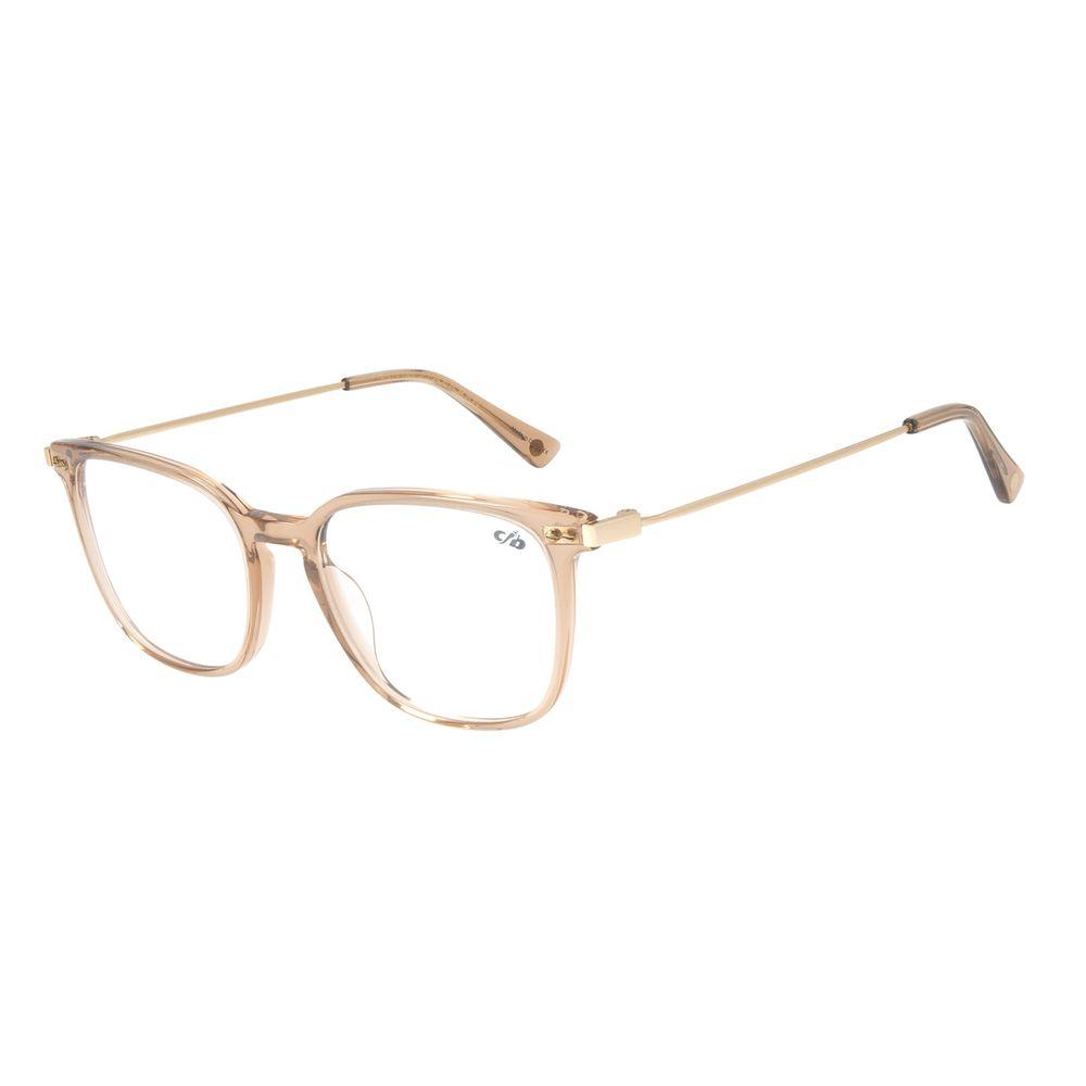 Armação Para Óculos de Grau Feminino Chilli Beans Quadrado Dourado LV.AC.0670-0221