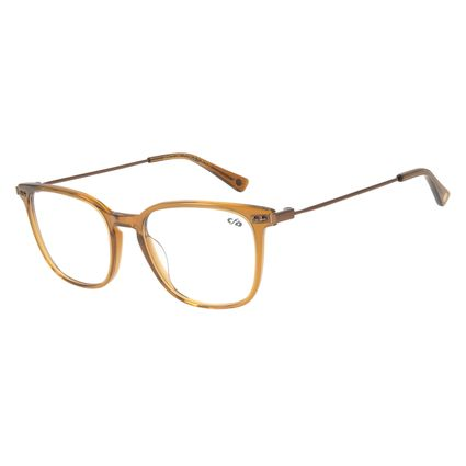 Armação Para Óculos de Grau Feminino Chilli Beans Quadrado Marrom LV.AC.0670-4721