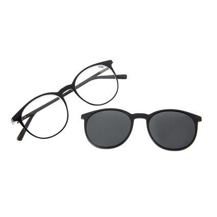 Armação Para Óculos De Grau Masculino Chilli Beans Multi Redondo Preta Polarizado LV.MU.0492-0101