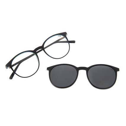 Armação Para Óculos De Grau Masculino Chilli Beans Multi Redondo Azul Escuro Polarizado LV.MU.0492-0190