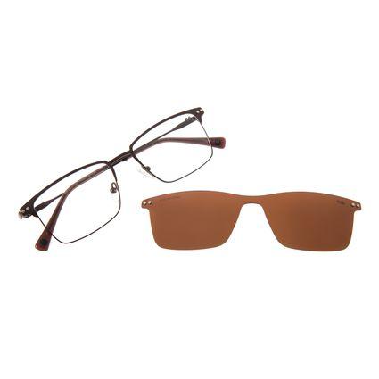 Armação Para Óculos de Grau Masculino Chilli Beans Multi Metal Marrom Polarizado LV.MU.0426-0202