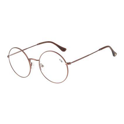 Armação Para Óculos de Grau Feminino Chilli Beans Redondo Marrom LV.MT.0424-0202