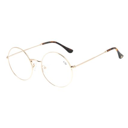 Armação Para Óculos de Grau Feminino Chilli Beans Redondo Dourado LV.MT.0424-2121