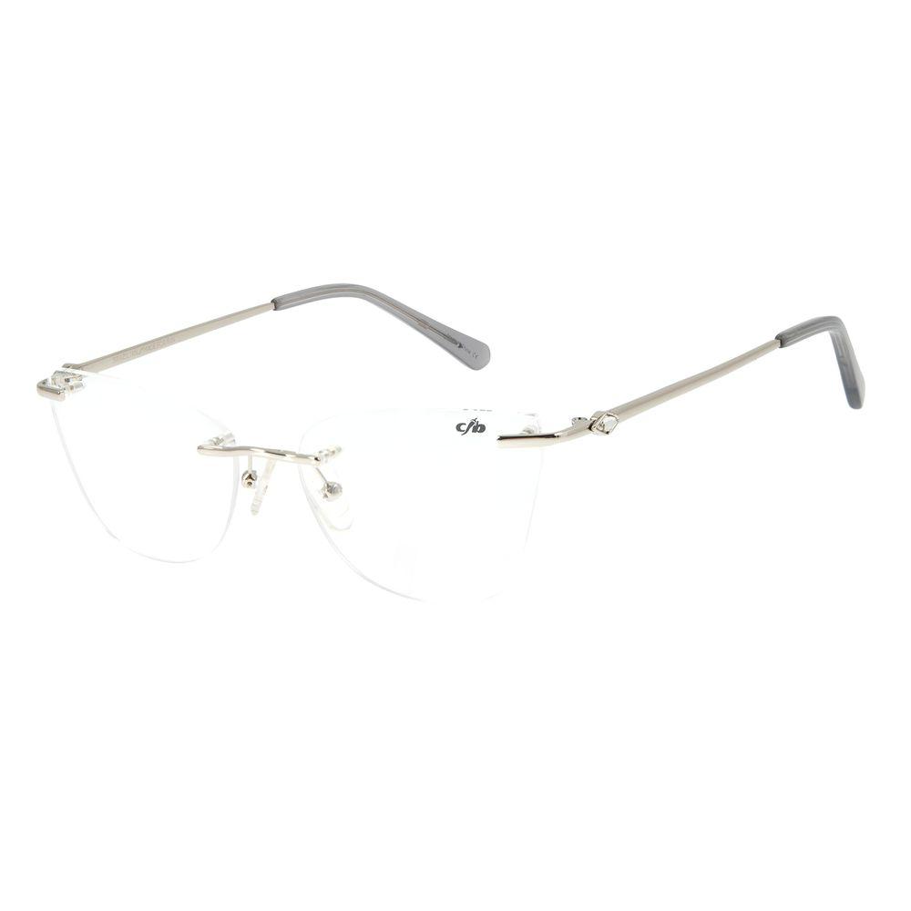 Armação Para Óculos de Grau Feminino Chilli Beans Classic 3 Peças Crystal Prata LV.MT.0431-0707