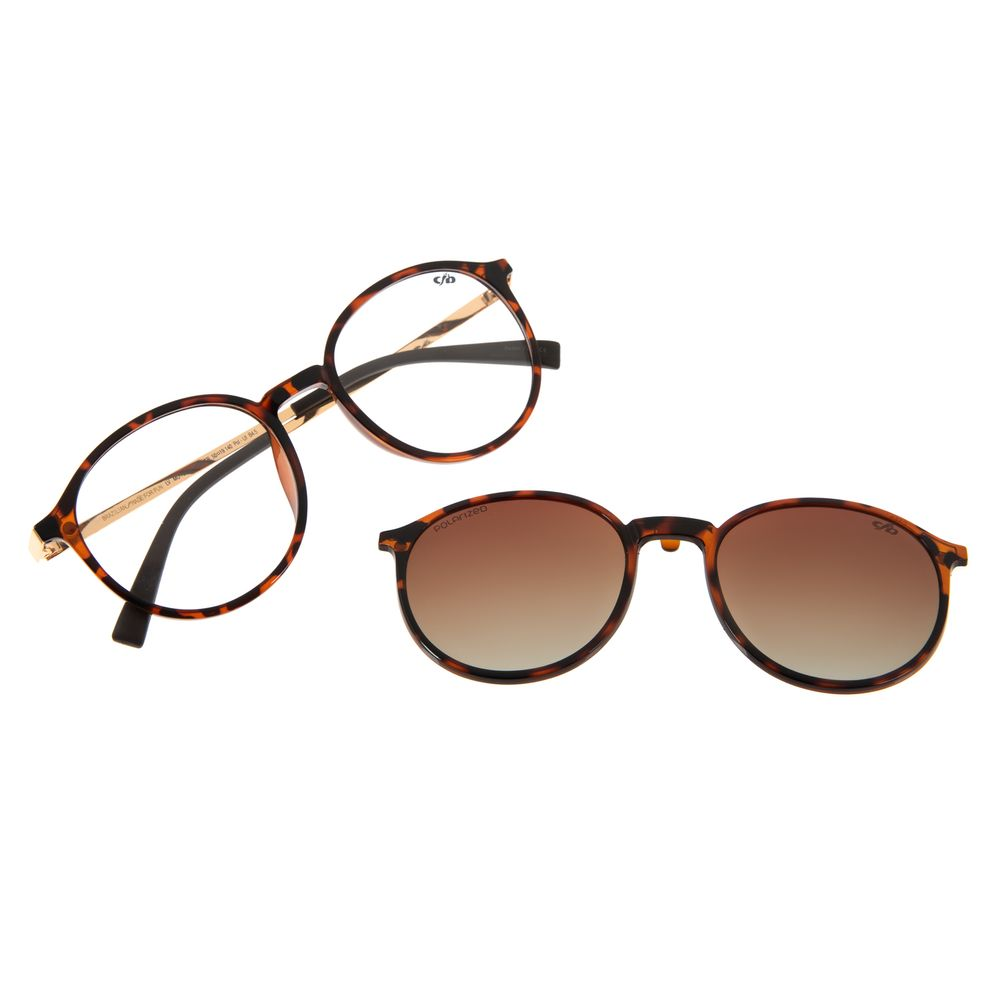 Armação Para Óculos de Grau Unissex Chilli Beans Multi Tartaruga Polarizado LV.MU.0342-2006