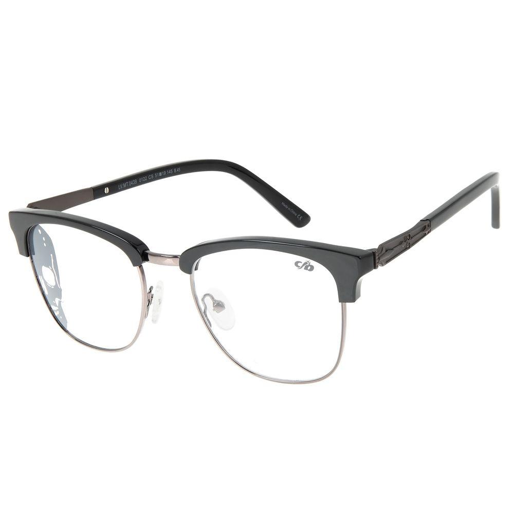 Armação Para Óculos de Grau Unissex Alexandre Herchcovitch Jazz Ônix LV.MT.0439-0122