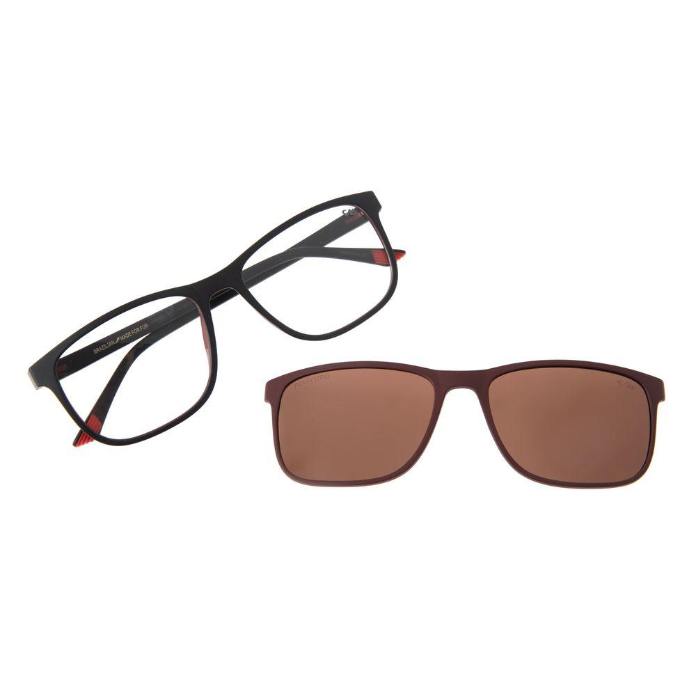 Armação Para Óculos De Grau Masculino Multi Quadrado Vinho Polarizado LV.MU.0403-0217