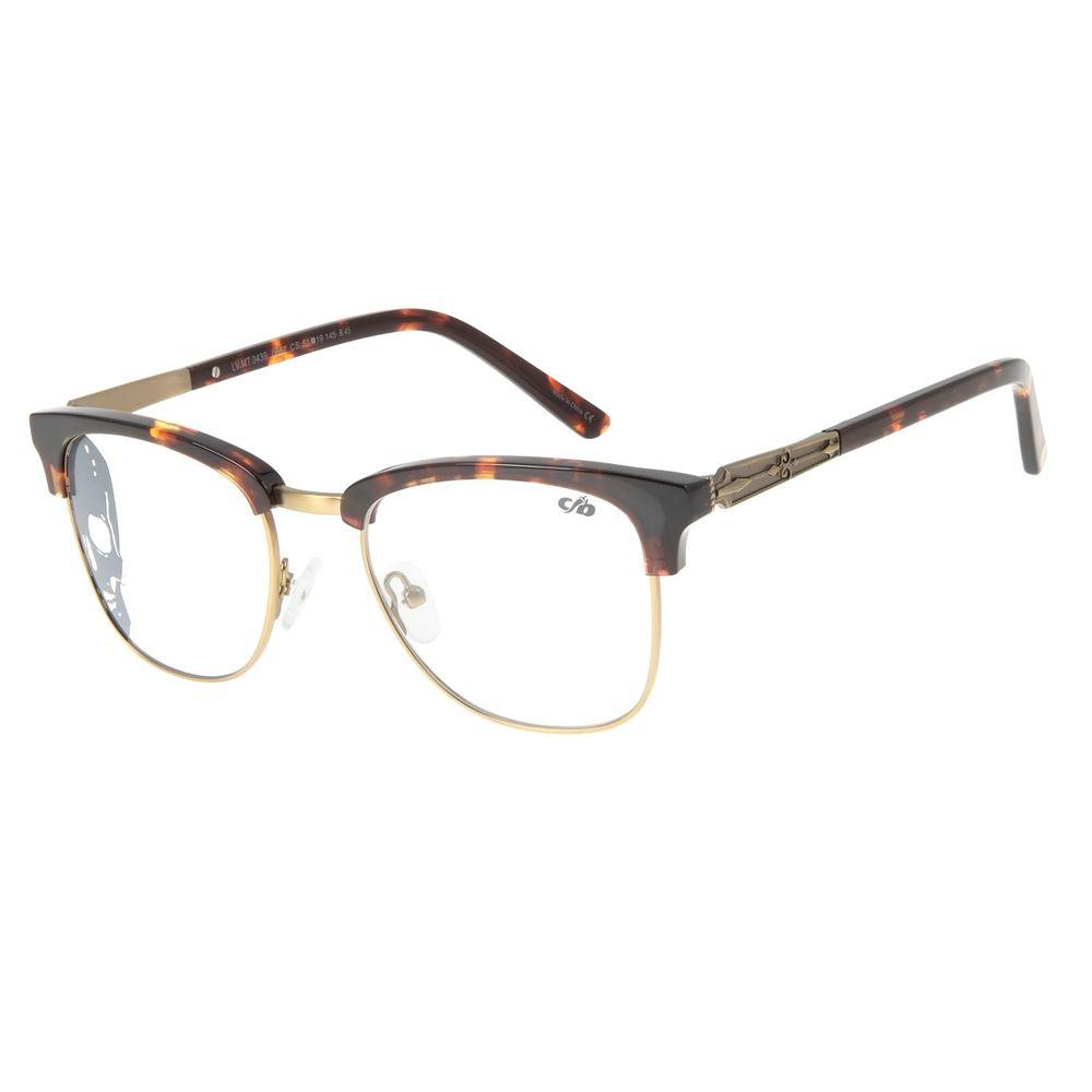 Armação Para Óculos de Grau Unissex Alexandre Herchcovitch Jazz Ouro Velho LV.MT.0439-0667