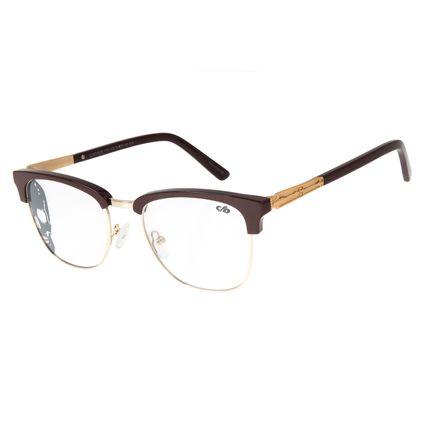 Armação Para Óculos de Grau Unissex Alexandre Herchcovitch Jazz Dourado LV.MT.0439-1721