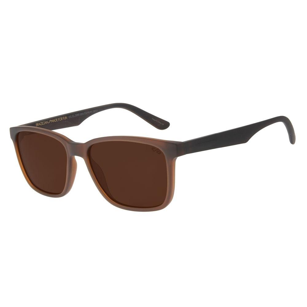 Óculos de Sol Masculino Barber Shop Bossa Nova Marrom OC.CL.3088-0202