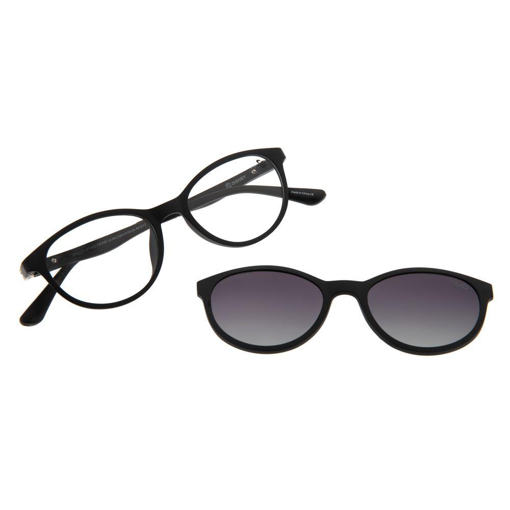 Armação Para Óculos De Grau Infantil Frozen II Multi Flexível Preto LV.MU.0334-0116