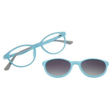 Armação Para Óculos De Grau Infantil Frozen II Multi Flexível Azul LV.MU.0334-0101