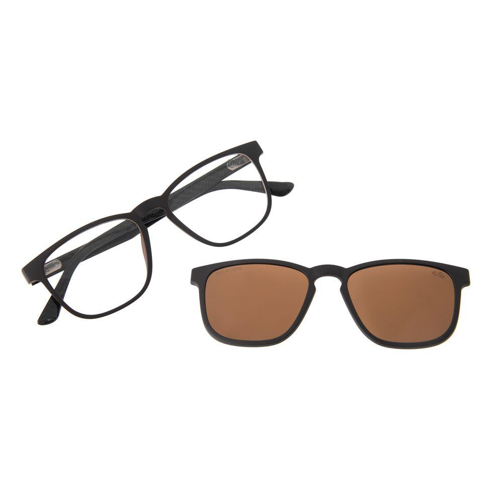 Armação Para Óculos De Grau Unissex Chilli Beans Multi Marrom Polarizado LV.MU.0501-0202
