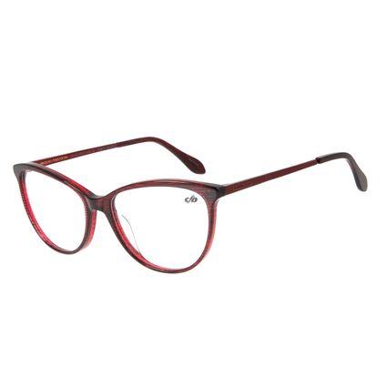Armação Para Óculos de Grau Feminina Chilli Beans Cat Vermelho LV.AC.0519-1716