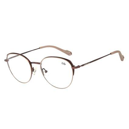 Armação Para Óculos de Grau Feminino Chilli Beans Redondo Titânio Cobre LV.MT.0372-2339