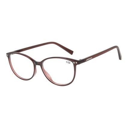 Armação Para Óculos de Grau Feminino Chilli Beans Quadrado Marrom Escuro LV.IJ.0178-4747