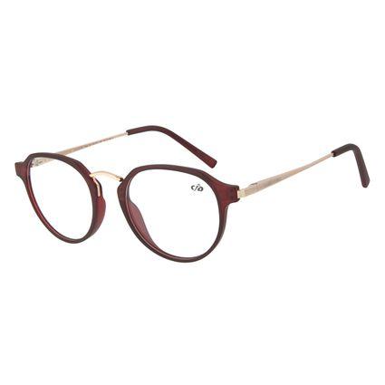 Armação Para Óculos de Grau Feminino Chilli Beans Redondo Vinho LV.IJ.0179-1764