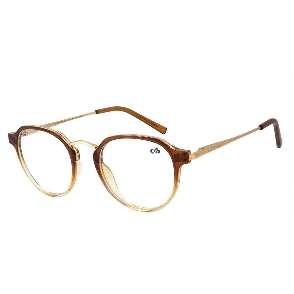 Armação Para Óculos de Grau Feminino Chilli Beans Redondo Degradê Marrom LV.IJ.0179-5721