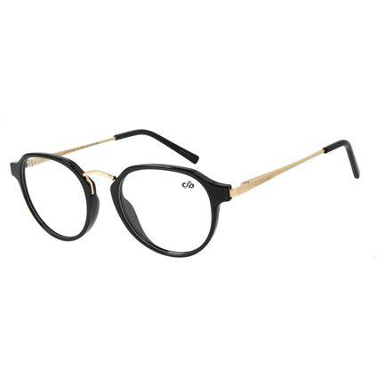 Armação Para Óculos de Grau Feminino Chilli Beans Redondo Preto LV.IJ.0179-0121.2